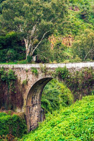 Puente del Molino de Abajo, aka water Mill Bridge. The oldest bridge on Gran Canaria island, Spain. Reklamní fotografie