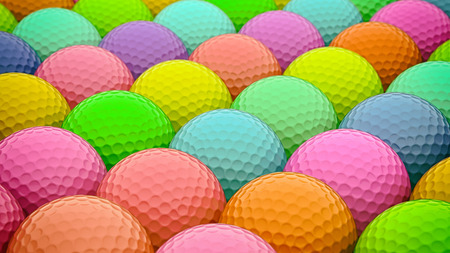 dimple: An ordered array of colorful golf balls