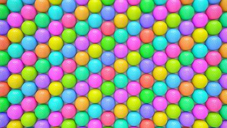 A Huge Vibrant Array of Colorful Golf Balls