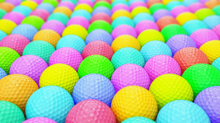 dimple: A Huge Vibrant Array of Colorful Golf Balls