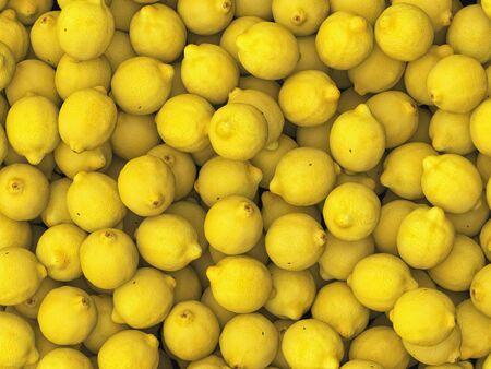 neutral: Pile of lemons under neutral studio lighting. This image is 3d illustration.