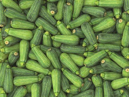 studio lighting: Pile of long zucchini under neutral studio lighting. This image is 3d illustration.