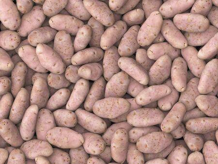 studio lighting: Pile of potatoes under neutral studio lighting. This image is 3d illustration.