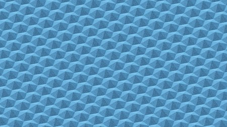 Landscape of abstract blue hexagonal knurls. This image is a 3d render.