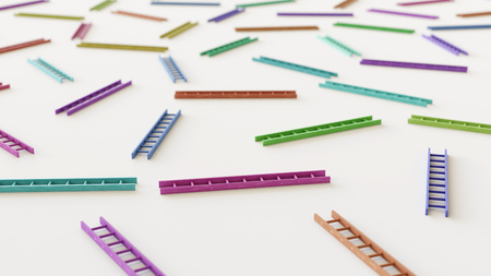 Variously Colored ladders in a Tight Even Grid on a Simple Concrete Surface