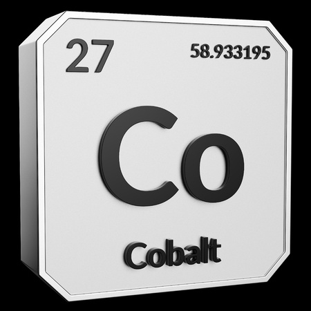 3d Text Of Chemical Element Cobalt Its Atomic Weight Periodic