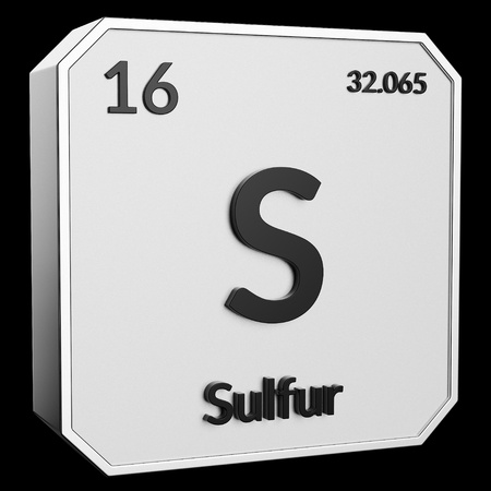 3d Text Of Chemical Element Sulfur Its Atomic Weight Periodic