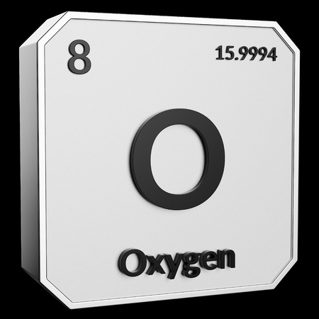 3d Text Of Chemical Element Oxygen Its Atomic Weight Periodic