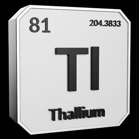 3d Text Of Chemical Element Thallium Its Atomic Weight Periodic