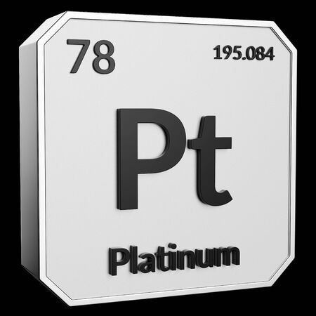 3d Text Of Chemical Element Platinum Its Atomic Weight Periodic