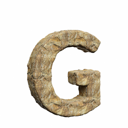 Roughly textured and warmly toned number g on a pure white background. This is a 3d render. Reklamní fotografie