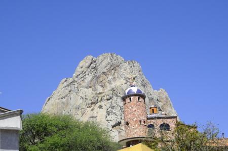 Vist of the mountain Pena de Bernal in Queretaro, Mexico