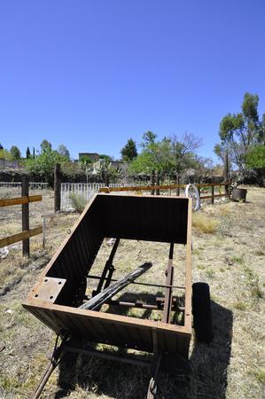 Vist of a Cart in a farm of Queretaro