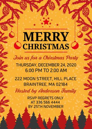 Merry Christmas Holiday Club Invitation