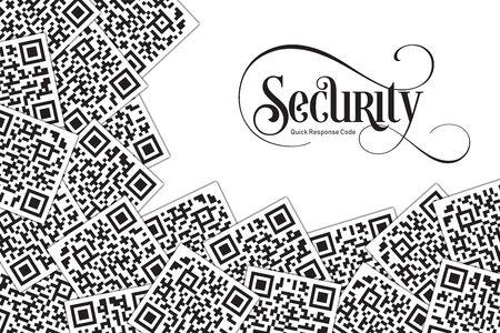 Quick Response Code Security Illustration. QR Code for Supermarket, E-commerce, Shop, Store Etc. Banque d'images - 126040748