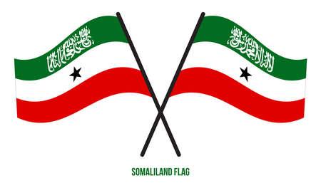 Somaliland Flag Waving Vector Illustration on White Background. Somaliland National Flag.