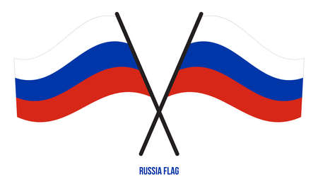 Russia Flag Waving Vector Illustration on White Background. Russia National Flag.