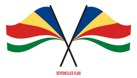 Seychelles Flag Waving Vector Illustration on White Background. Seychelles National Flag.