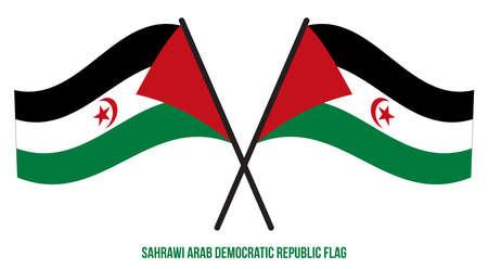 Sahrawi Arab Democratic Republic Flag Waving Vector Illustration on White Background. Sahrawi Arab Democratic Republic National Flag.
