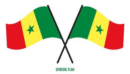 Senegal Flag Waving Vector Illustration on White Background. Senegal National Flag.