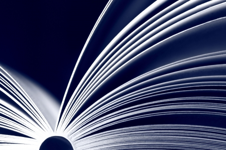 Opened book - blue color Stock Photo