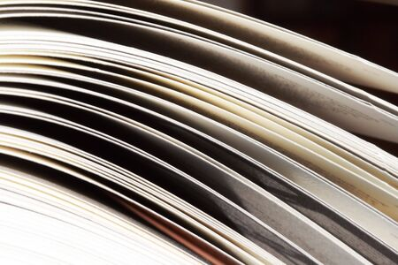 skim: Pages of an opened book Stock Photo