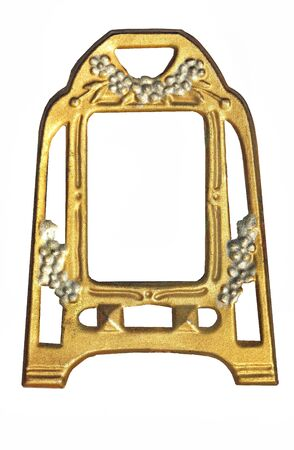 jugendstil: Old antique photograph frame - isolated