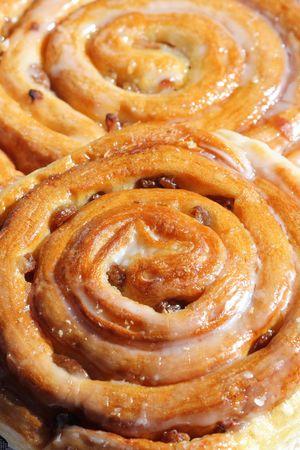 Sweet cinnamon raisin buns photo