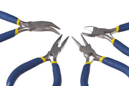 Isolated set of 4 pliers Stock Photo - 17007122