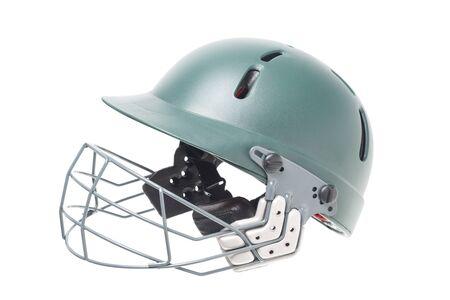 cricket helmet: Isolated shot of a cricket helmet