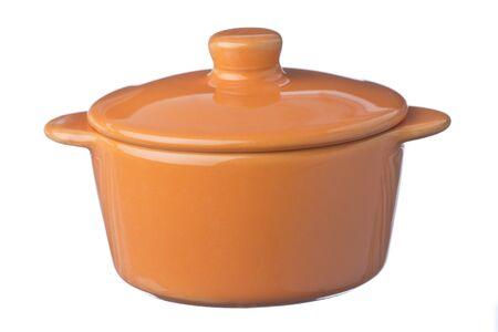 ochre: Isolated shot of ochre pot