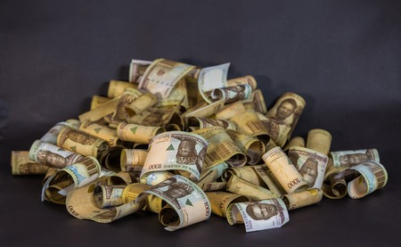 Nigerian Currency - A heap of nigeria naira notes
