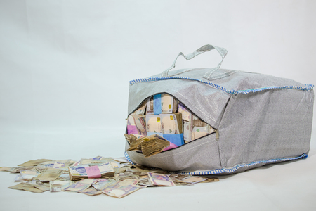 Bag of Naira note Cash and local currencies Stock Photo - 124280787