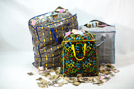 Bag of Naira note Cash and local currencies Stock Photo