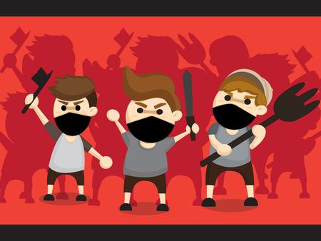 mob: mob cartoon design Illustration