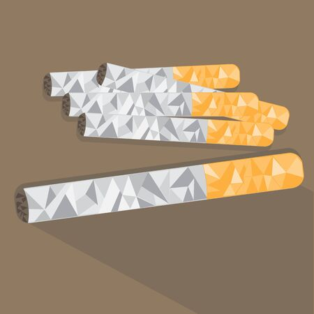 low poly: low poly cigarette