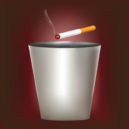 Disposable cigarette bins Vector