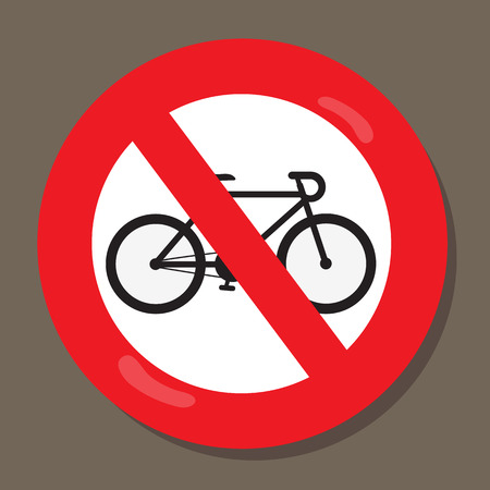Bicycles are not allowed Vector