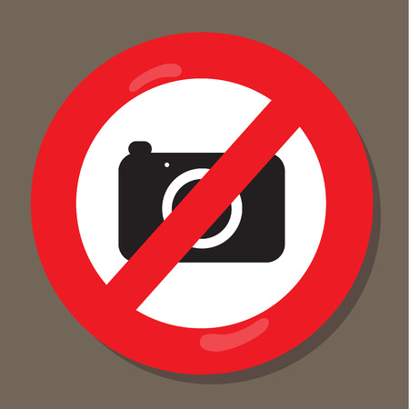 Warning labels the camera Vector