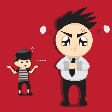 disagree: Illustration of man angry