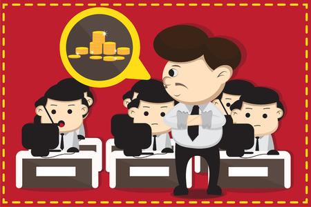 boss cartoon: Employee and boss cartoon design