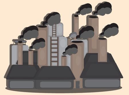 air pollution cartoon: INDUSTRIAL  CARTOON DESIGN