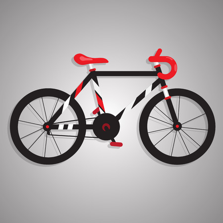 BLACK AND RED BIKE Vector