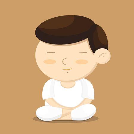 buddhist meditation: meditation cartoon