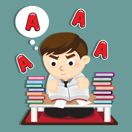 grade: Preparation for the top grade. Illustration