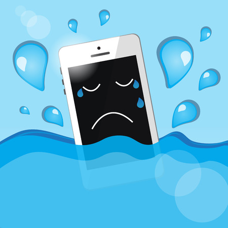 lament: phone into the water Illustration