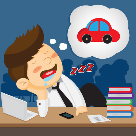 sleeping car: lazy employee