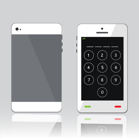 password on white phone Vector