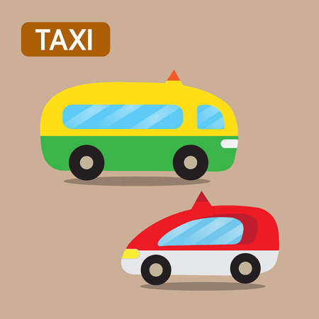 taxi cartoon design Vector