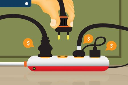 Electrical outlet  and power outlet Illustration